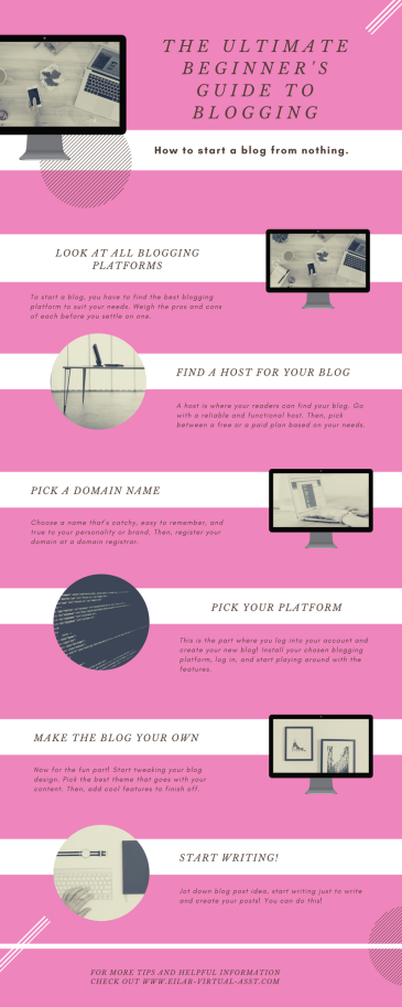 Beginner's guide to blogging infographic